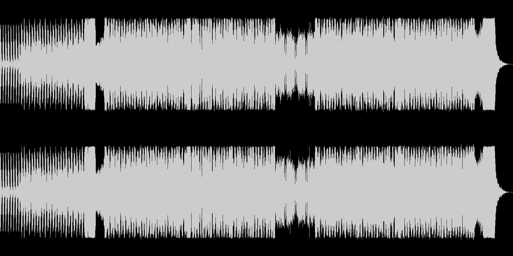 アップテンポなビートロックの未再生の波形