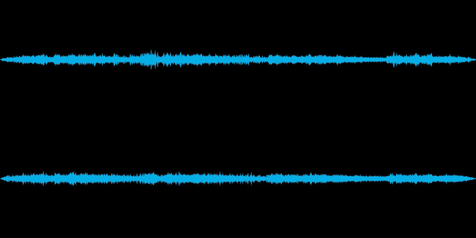 都会の街中での蝉の声の再生済みの波形