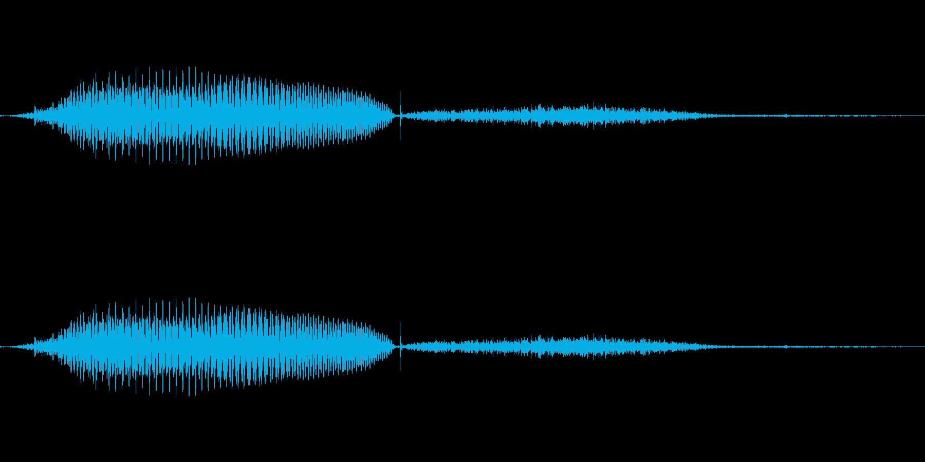ドイツ語 数字 1 eins(アインス)の再生済みの波形