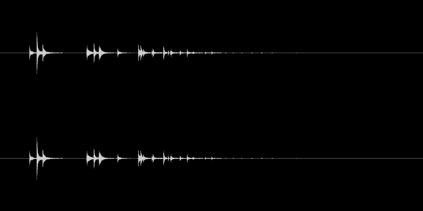 【鉛筆01-14(置く)】の未再生の波形