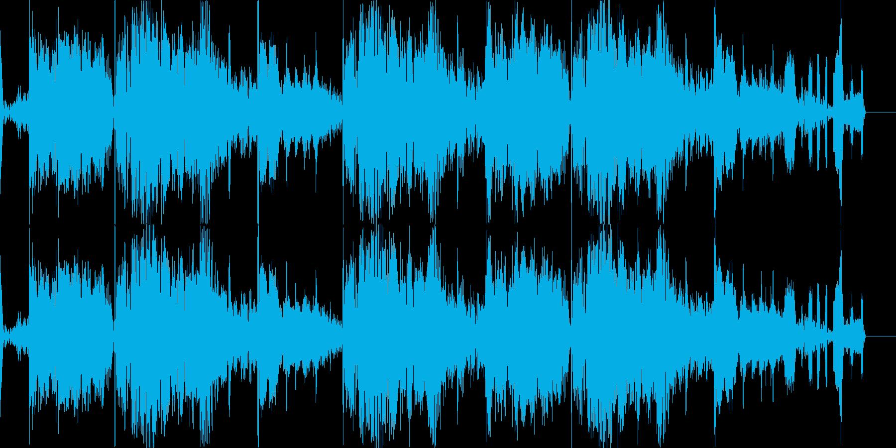 自然が溢れるBGMの再生済みの波形