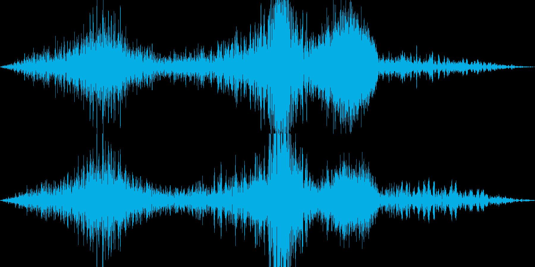 「ヒュー ヒュルヒュル ヒューン」の再生済みの波形