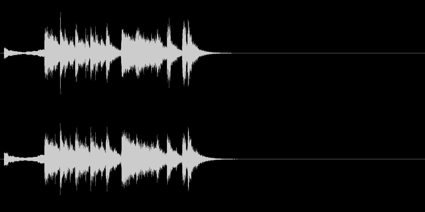 ファンファーレ系ジングルの未再生の波形