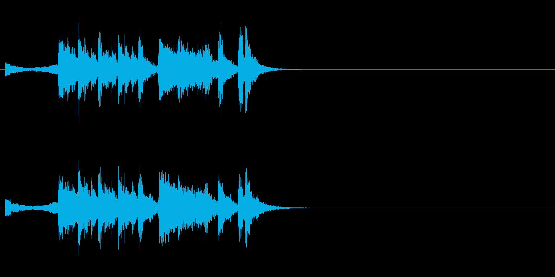 ファンファーレ系ジングルの再生済みの波形