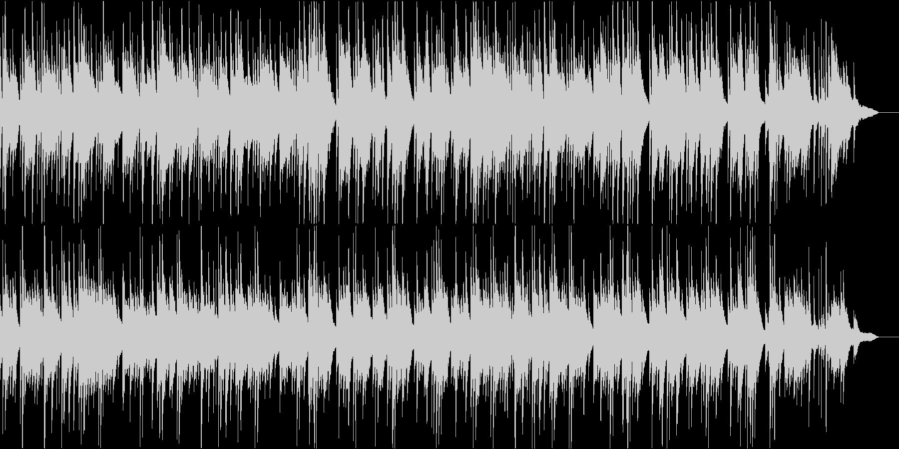 穏やかな雰囲気のピアノソロBGMの未再生の波形