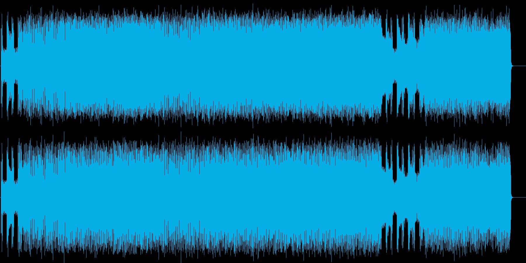 パワフルなハード・ブギーの再生済みの波形