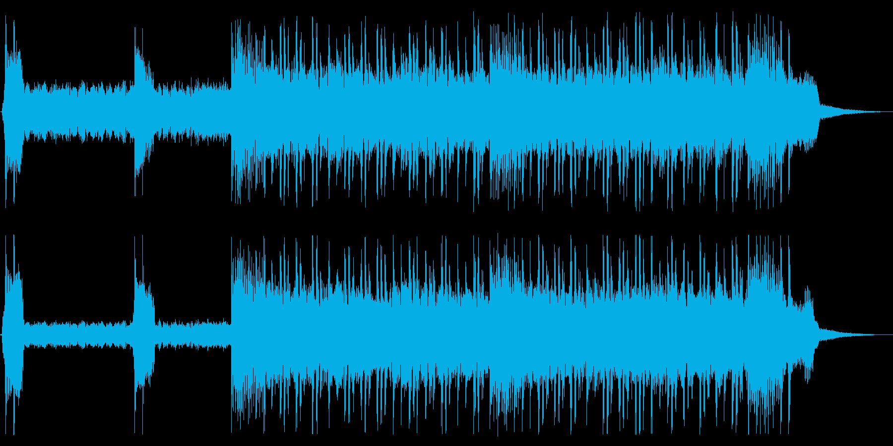重く激しいラウドロックの再生済みの波形