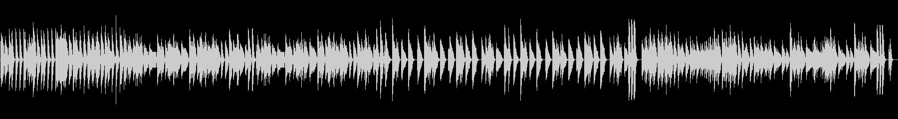 ピアノ元気明るいスキップリズムの未再生の波形