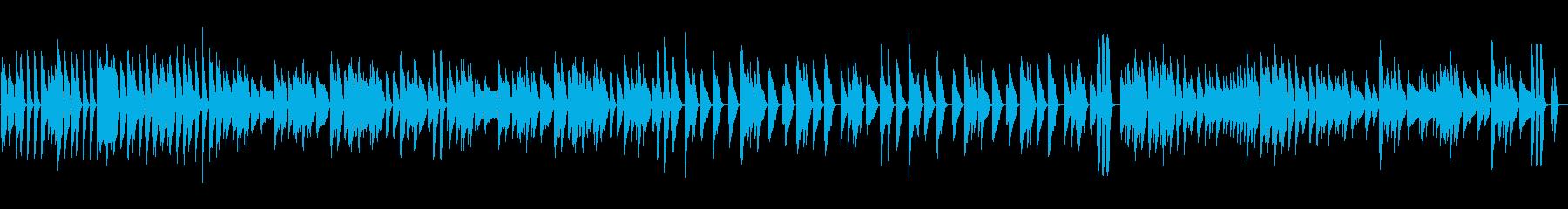 ピアノ元気明るいスキップリズムの再生済みの波形