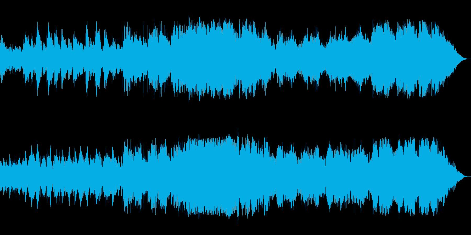 優しく温もりのあるメロディのピアノ曲の再生済みの波形