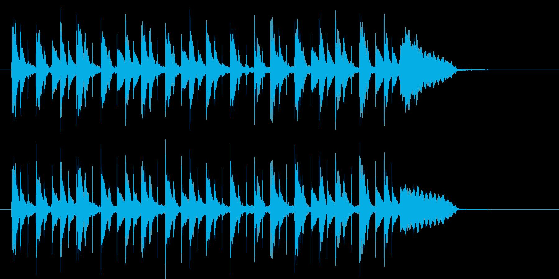 軽快で緩やかなシンセポップジングルの再生済みの波形