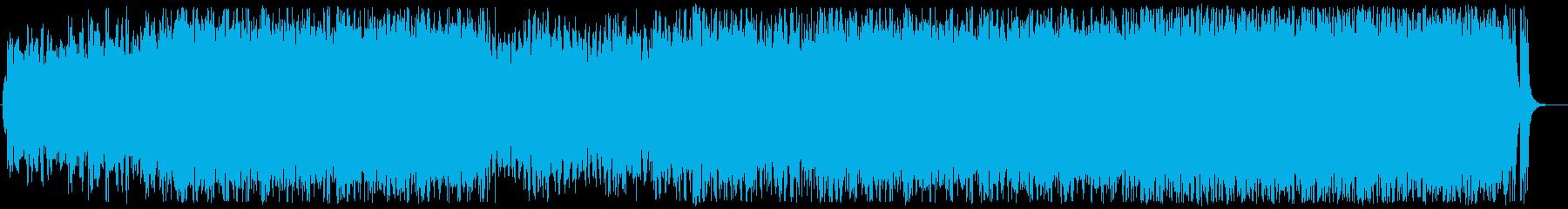 威風堂々をイメージした曲の再生済みの波形