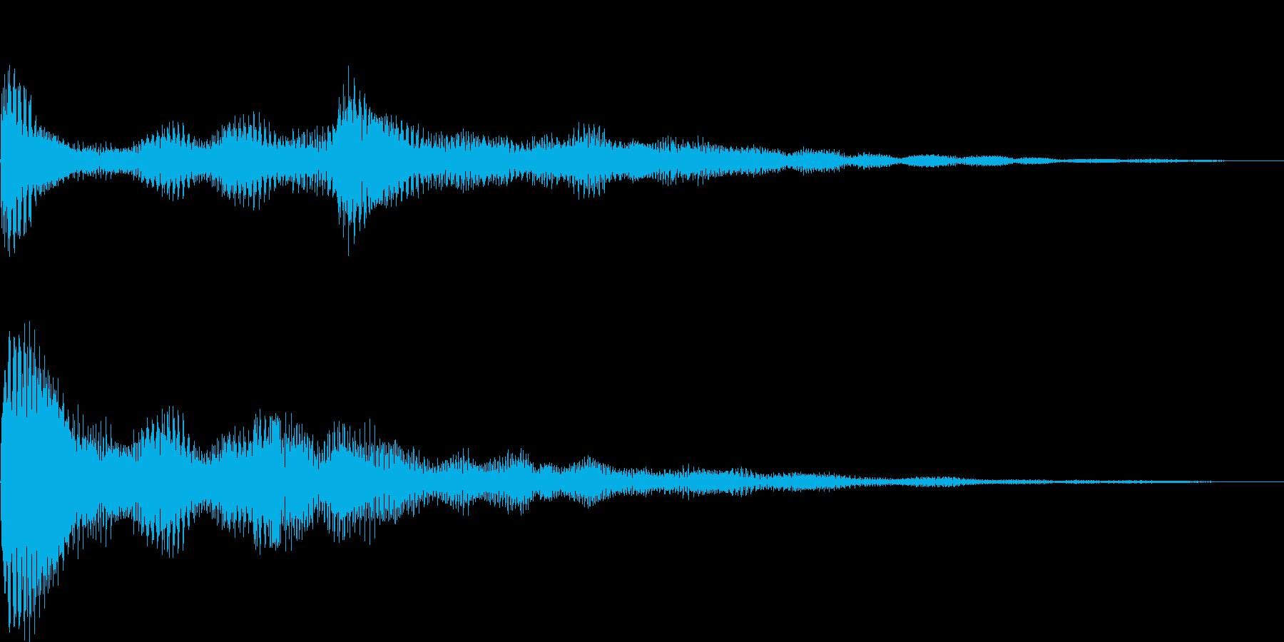 パワーン(タイトル、表示、ボタン)の再生済みの波形