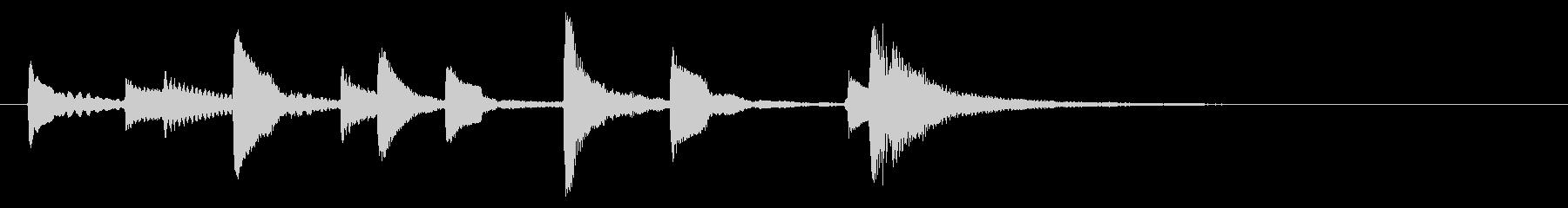 ウクレレハワイアンフレーズ4の未再生の波形