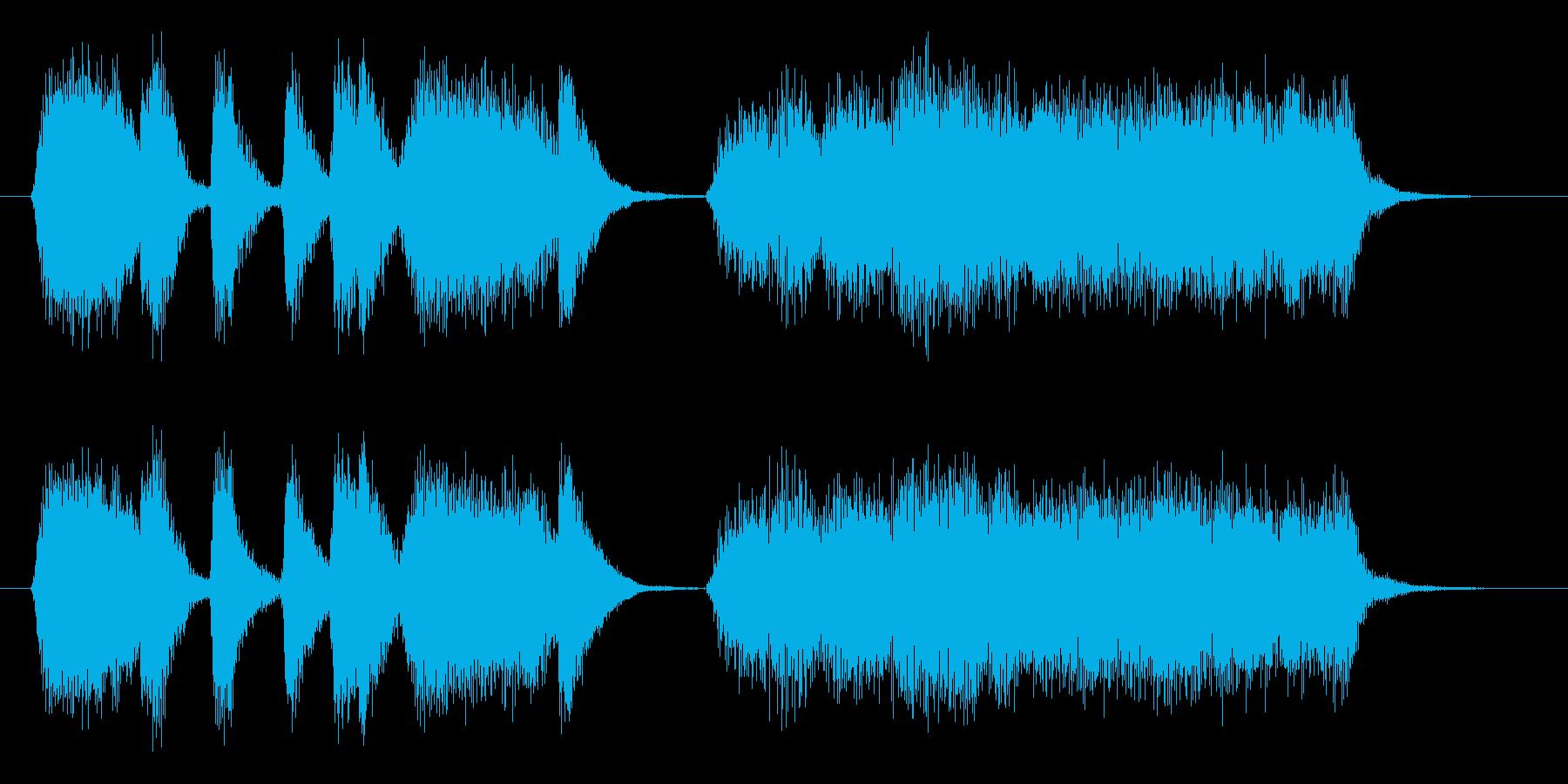 ジャズ トロンボーンのフレーズの再生済みの波形