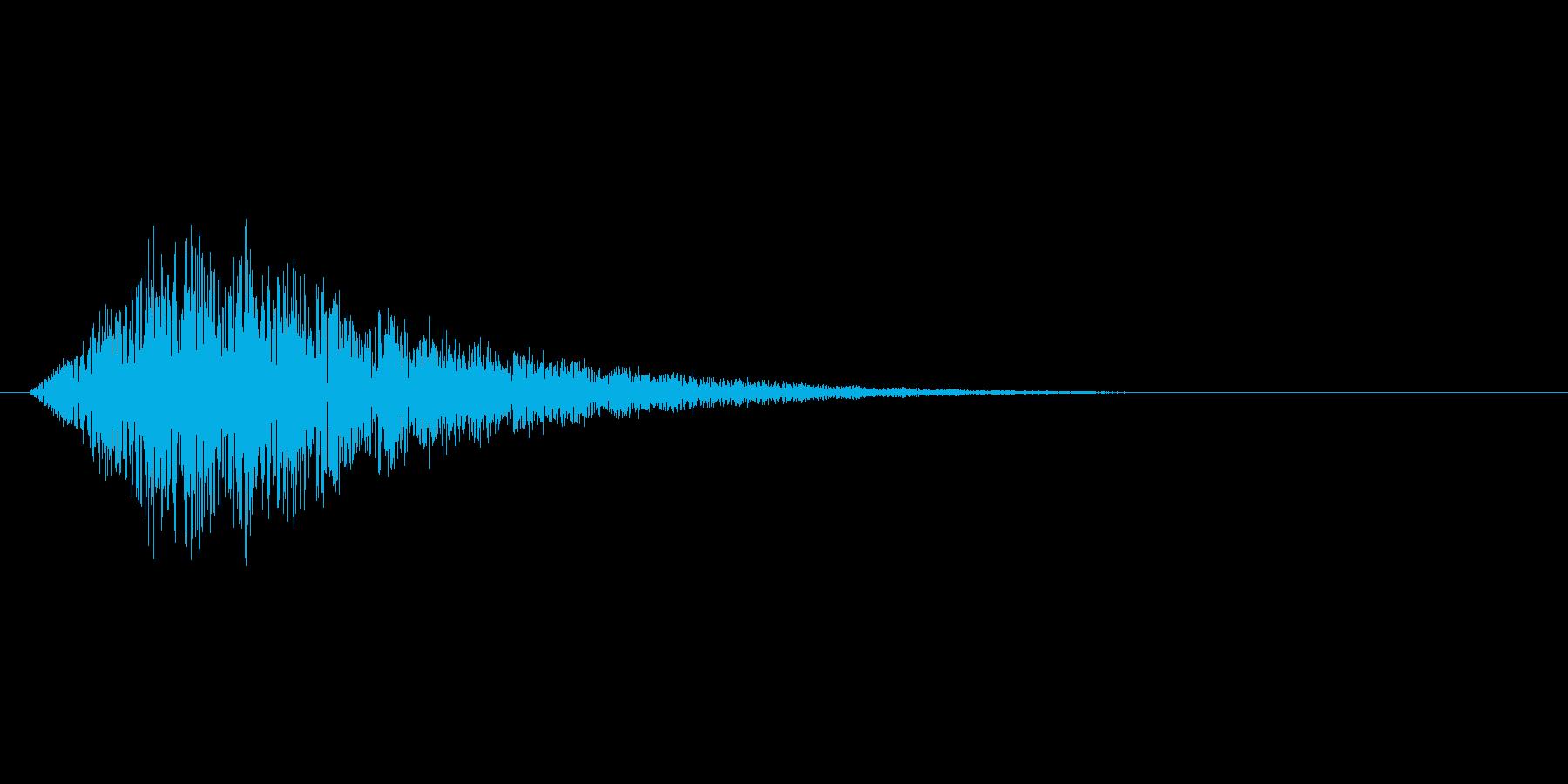 チャージや回復、ゲージ上昇のような効果音の再生済みの波形