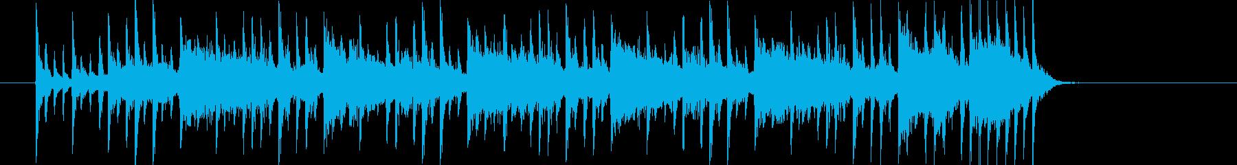 ワクワクするようなテクノポップの再生済みの波形