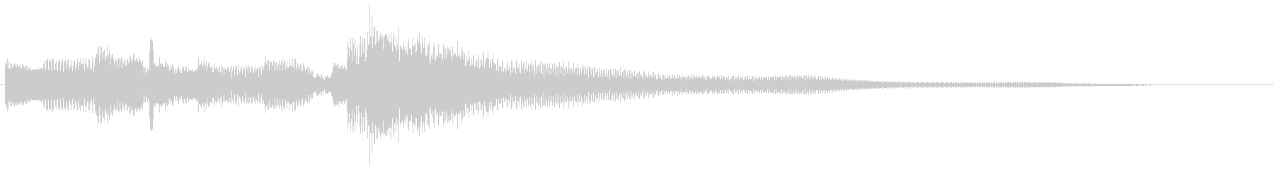 クリーントーン ギターフレーズ 場面転換の未再生の波形