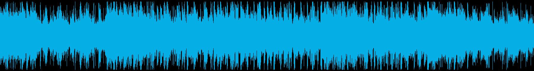 黒灰のドア ダークアクション向けループの再生済みの波形