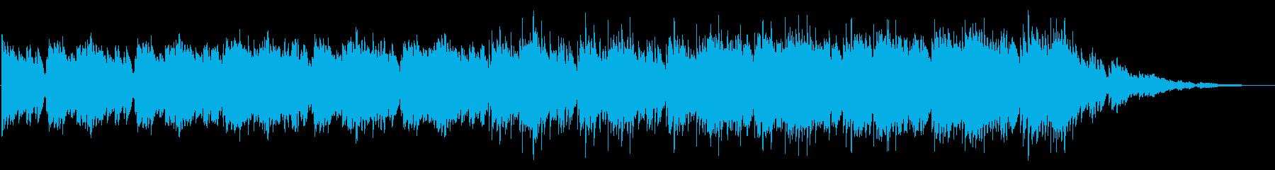 ピアノ中心で暗い雰囲気のインスト曲の再生済みの波形
