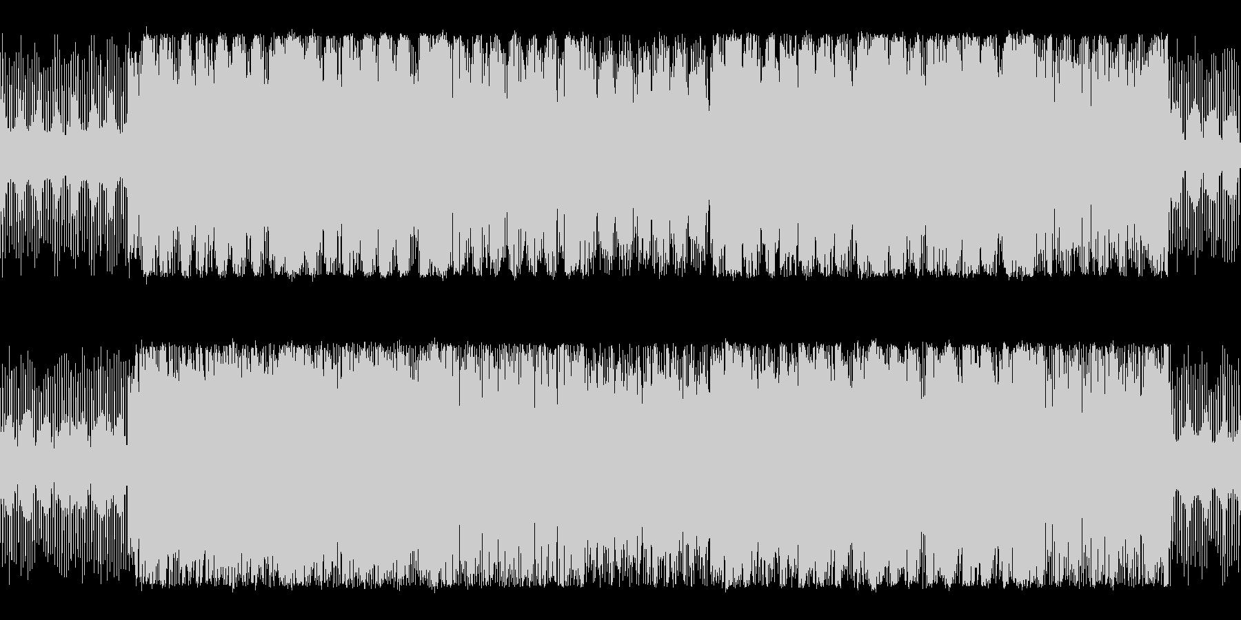 明るく疾走感のあるチップチューンサウンドの未再生の波形