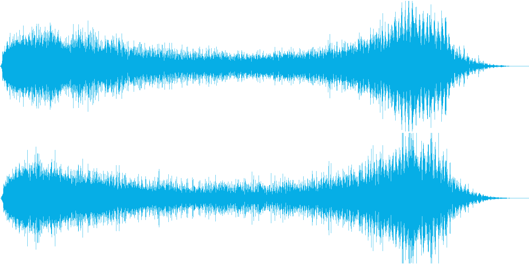 SF映画の効果音の再生済みの波形
