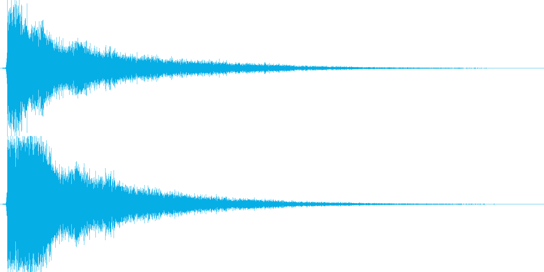 テューン(アイテム使用、エフェクト有り)の再生済みの波形