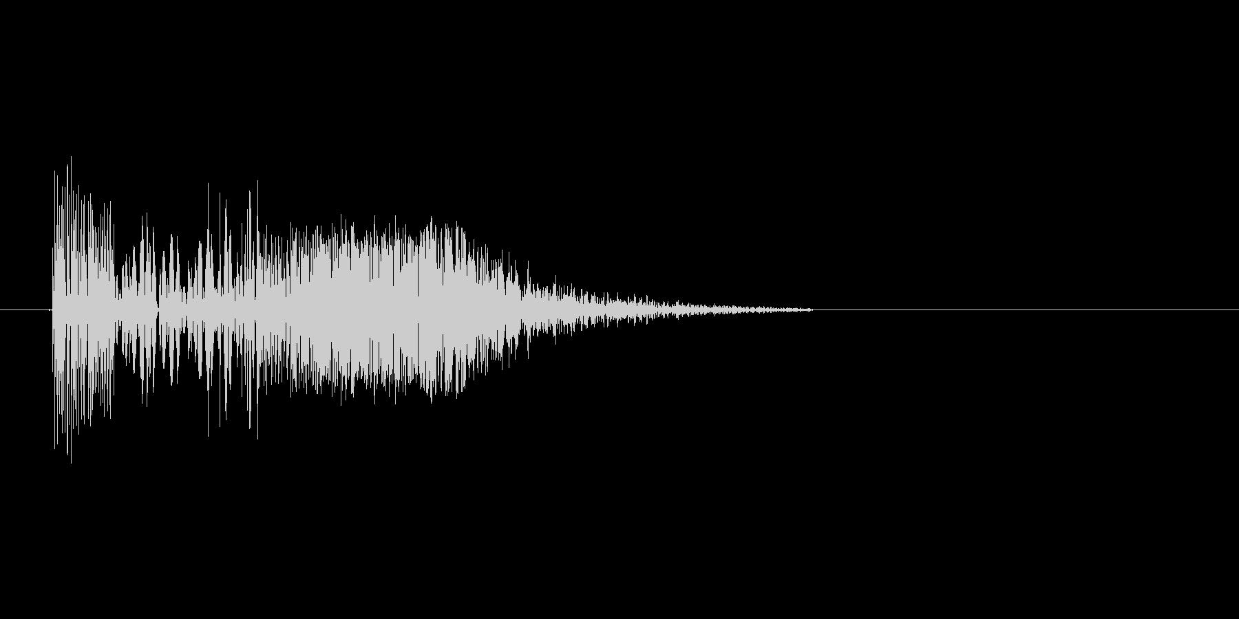 ズバッ(斬撃、剣、ダメージ)の未再生の波形