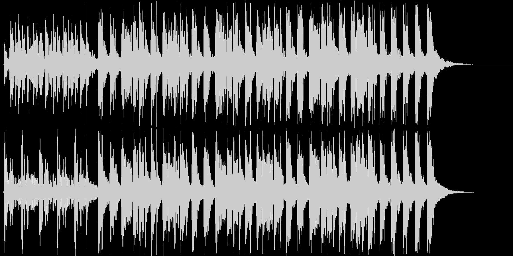 トロピカルなシンセサウンド短めの未再生の波形