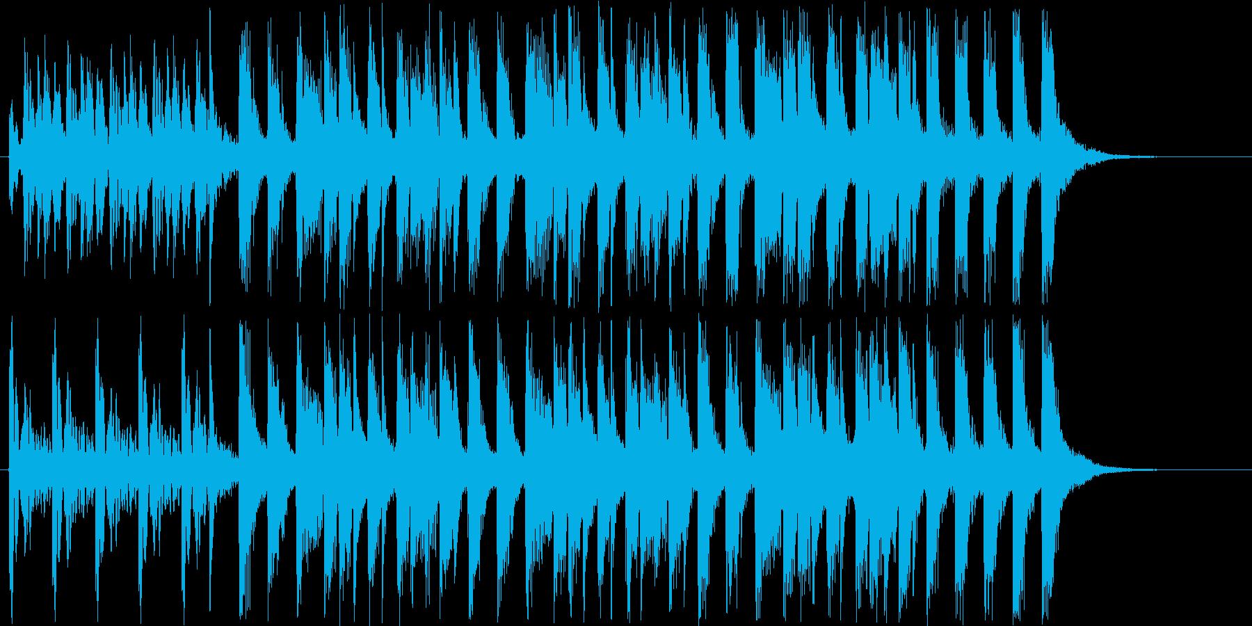 トロピカルなシンセサウンド短めの再生済みの波形