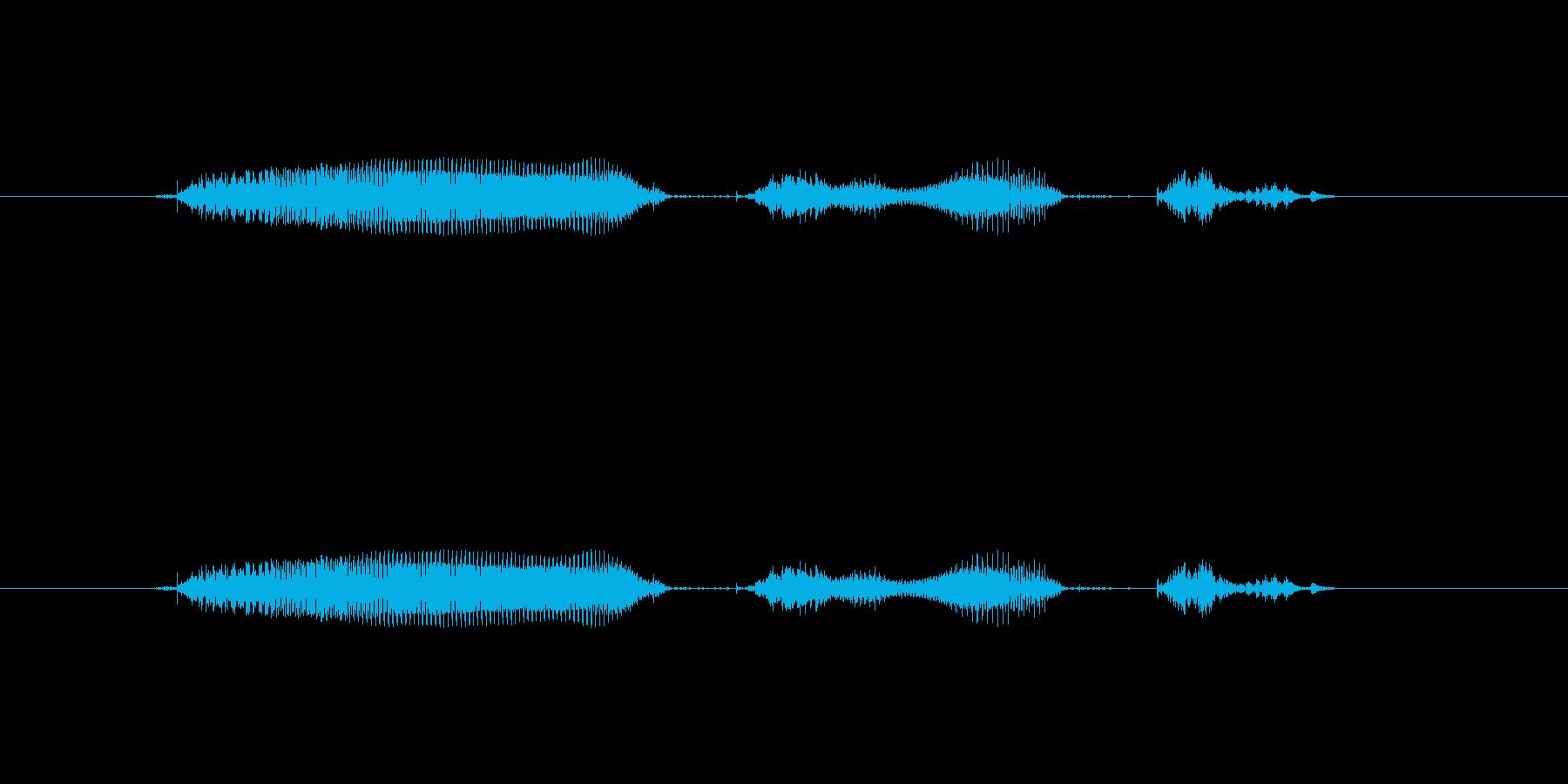 【月】11月の再生済みの波形