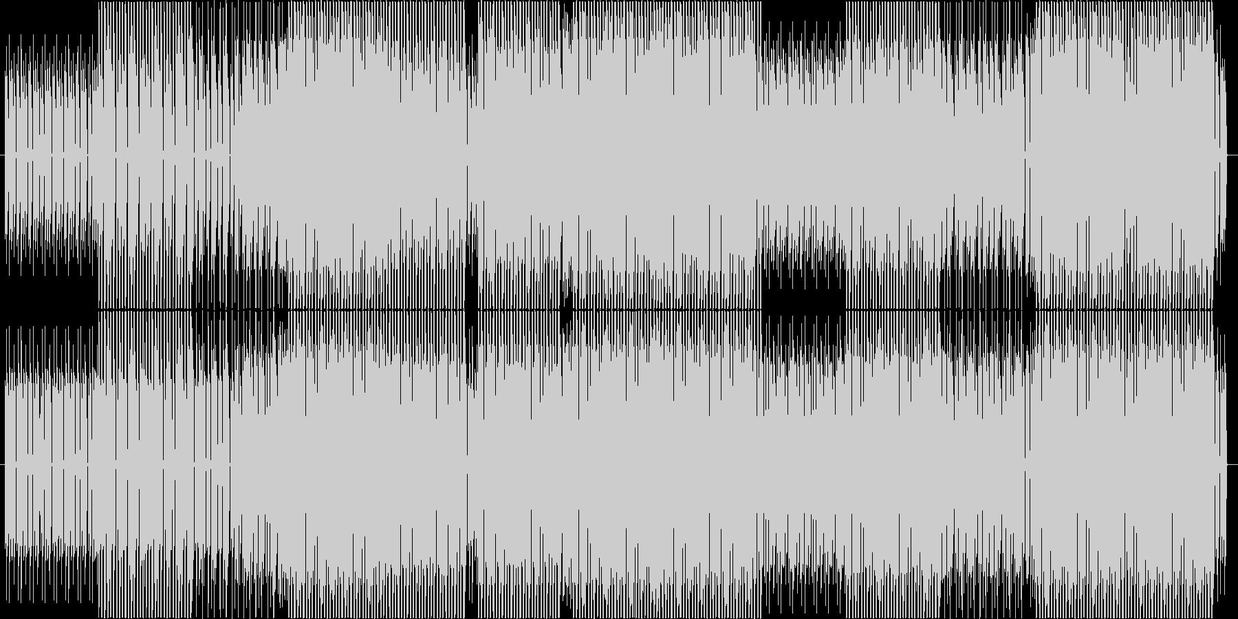 ミニマルでハードでシンプルなテクノの未再生の波形