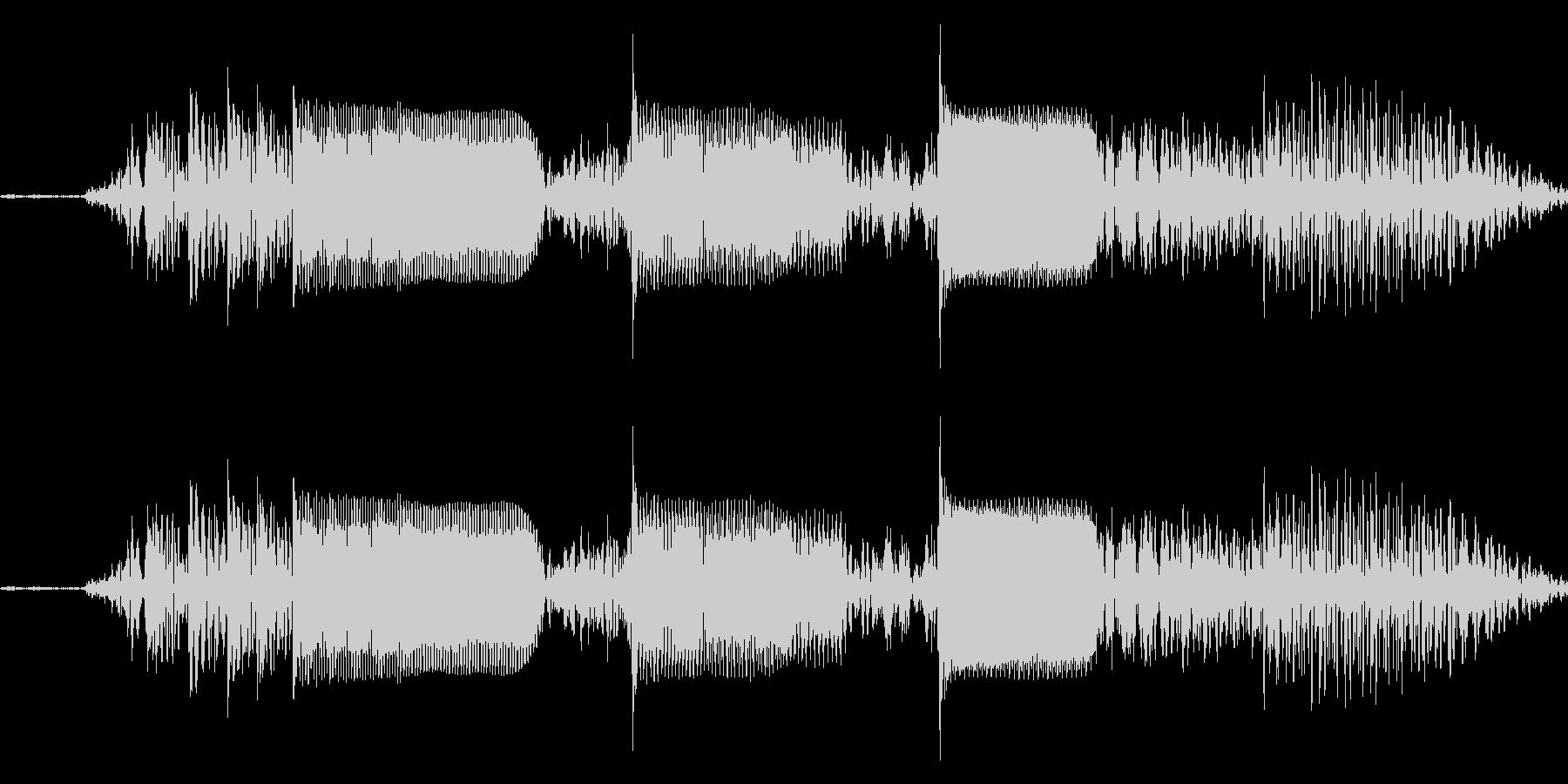 【エレキギター・フレーズ】R&R風の未再生の波形