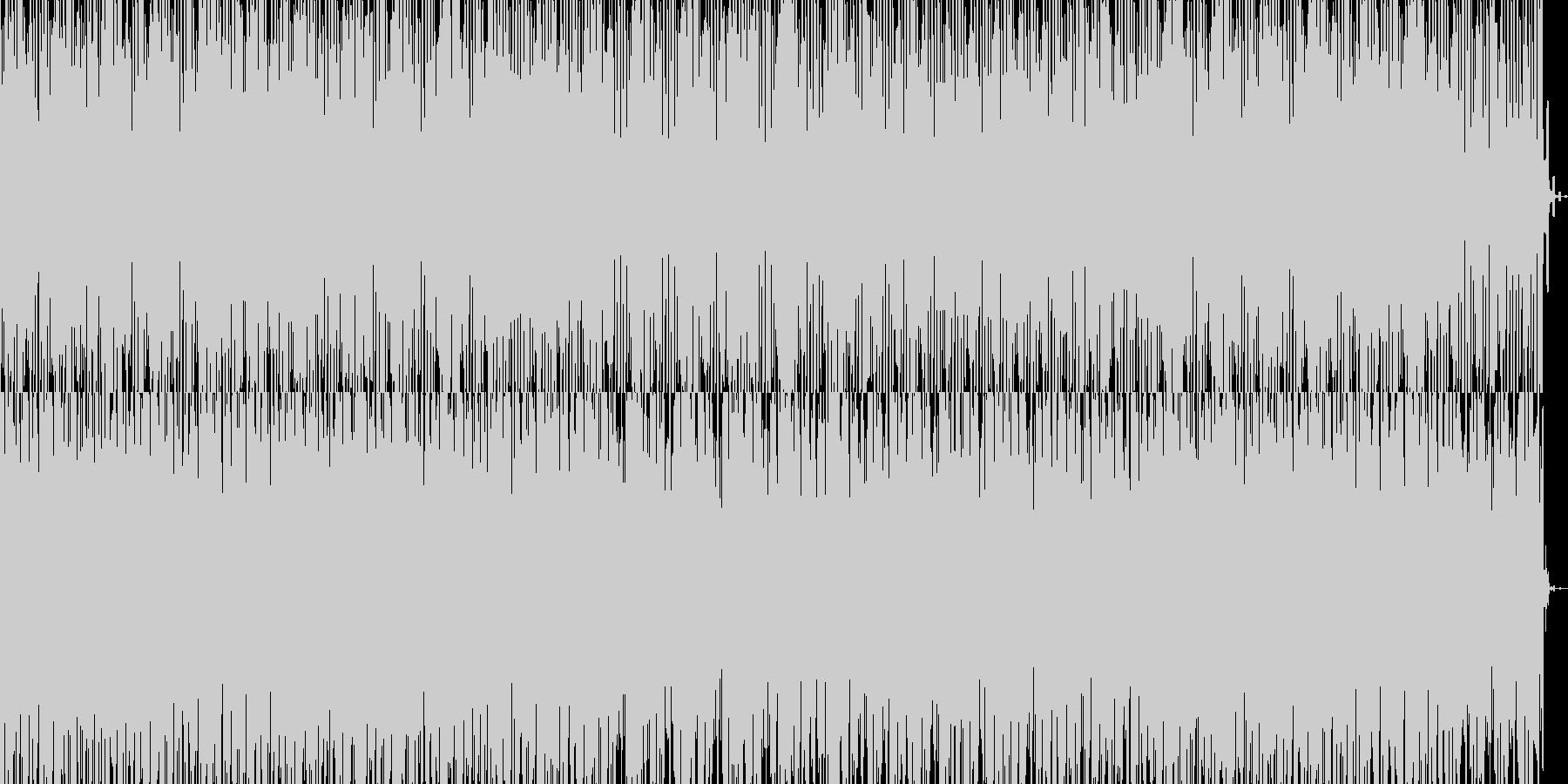 明るく程よいテンポのダンスミュージックの未再生の波形