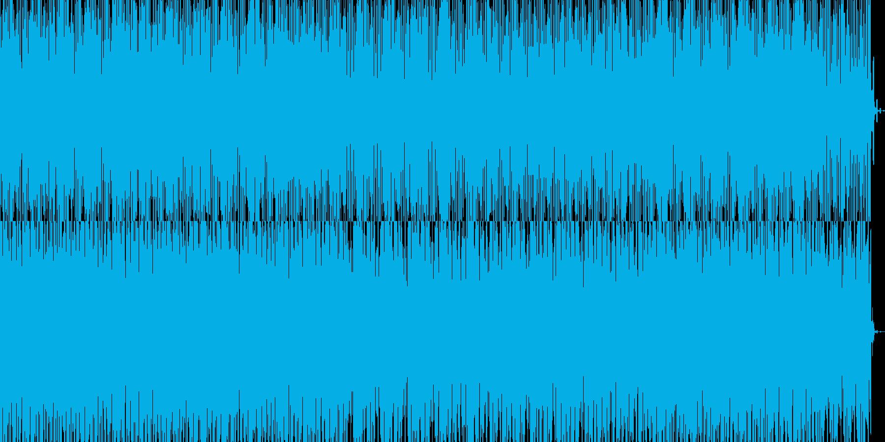 明るく程よいテンポのダンスミュージックの再生済みの波形