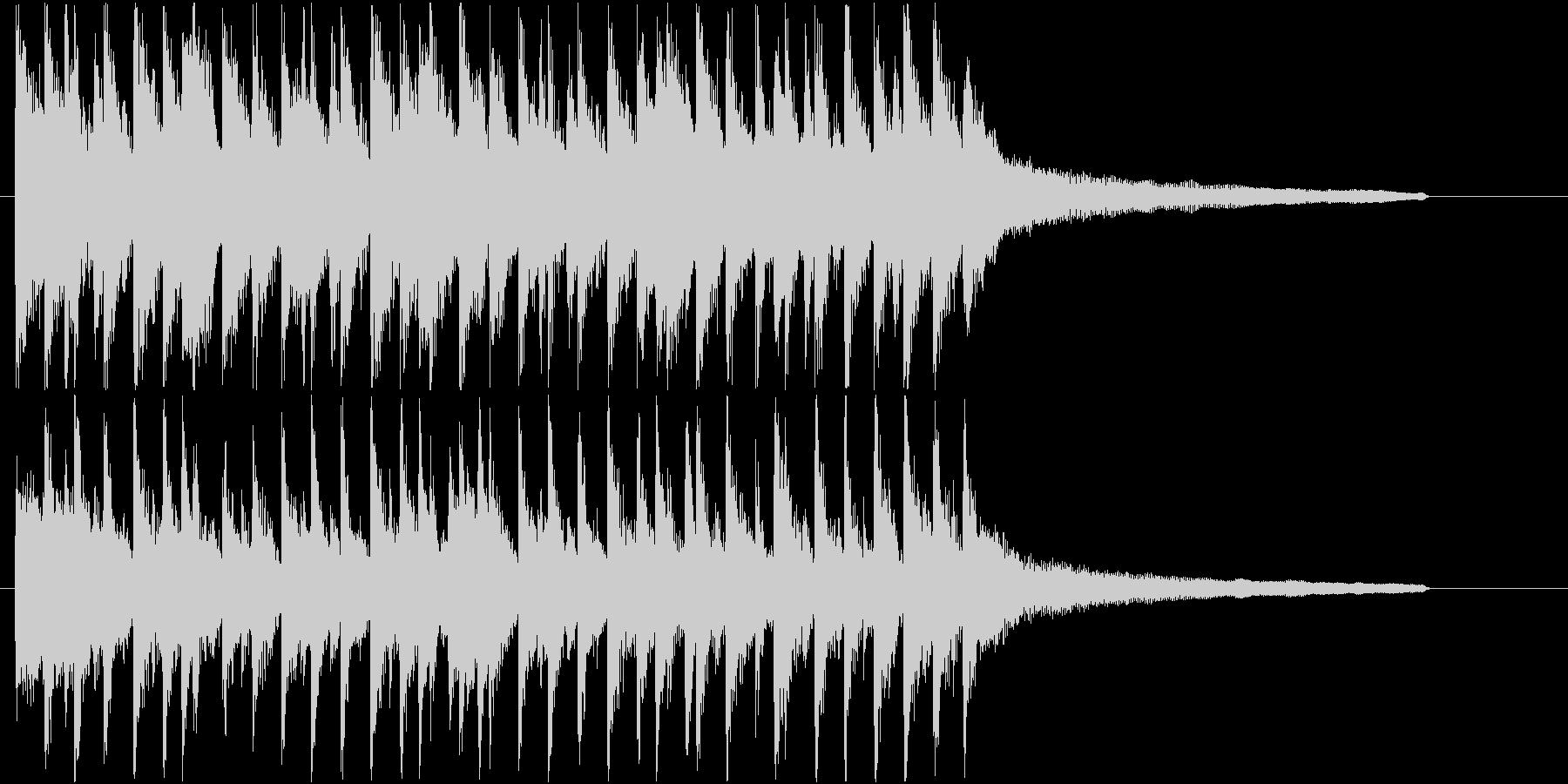 流行りのポップでハッピーなサウンドロゴ♪の未再生の波形