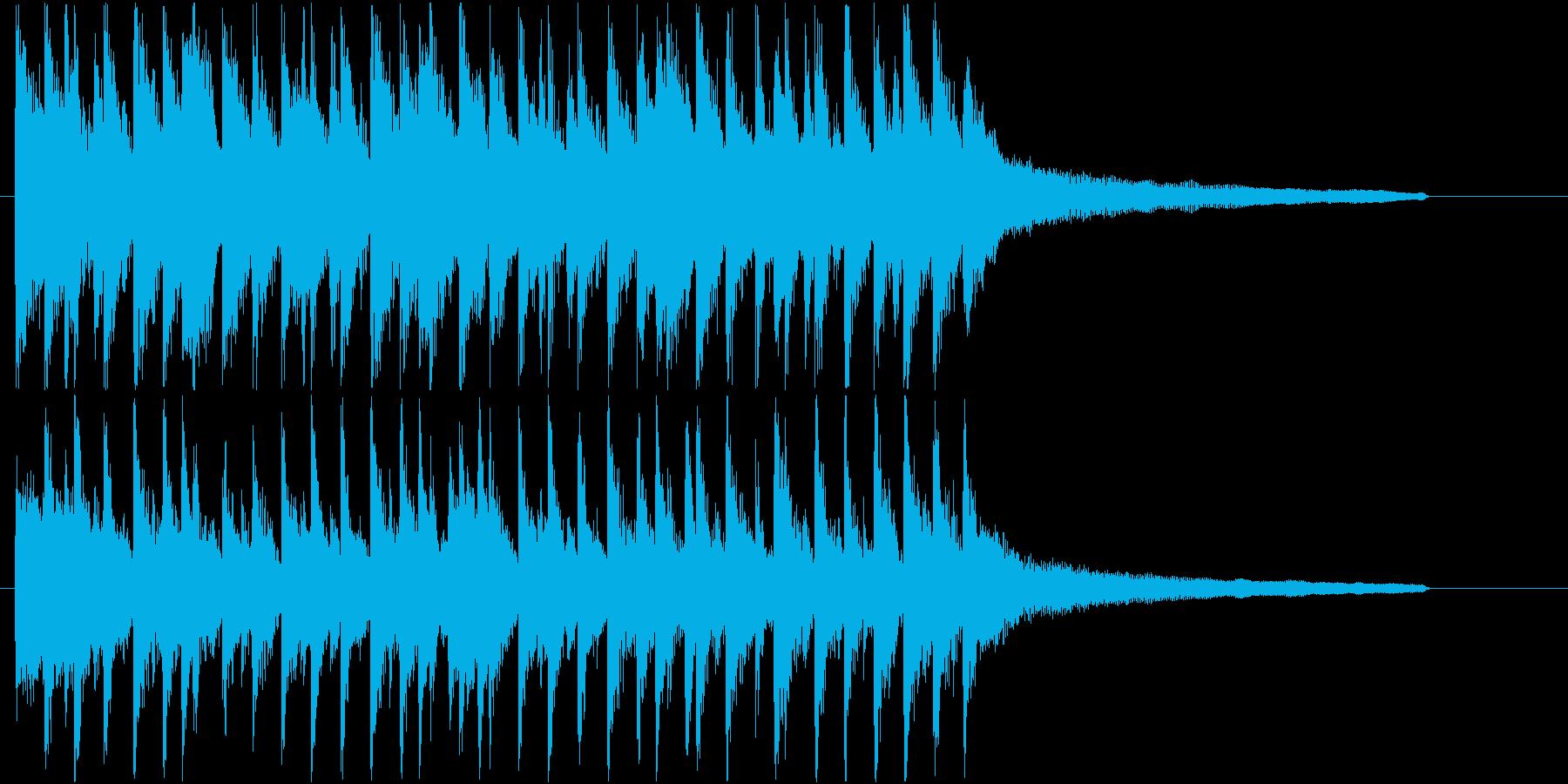 流行りのポップでハッピーなサウンドロゴ♪の再生済みの波形