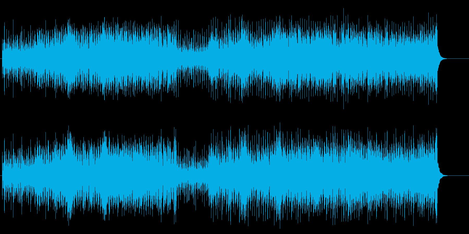 カッティングがパーカッシヴなフュージョンの再生済みの波形