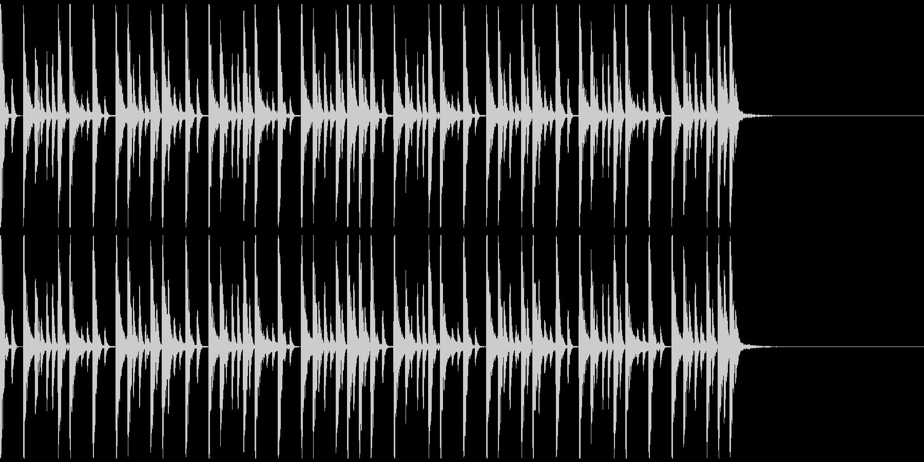 ドラムンベースのリズムパターン01の未再生の波形