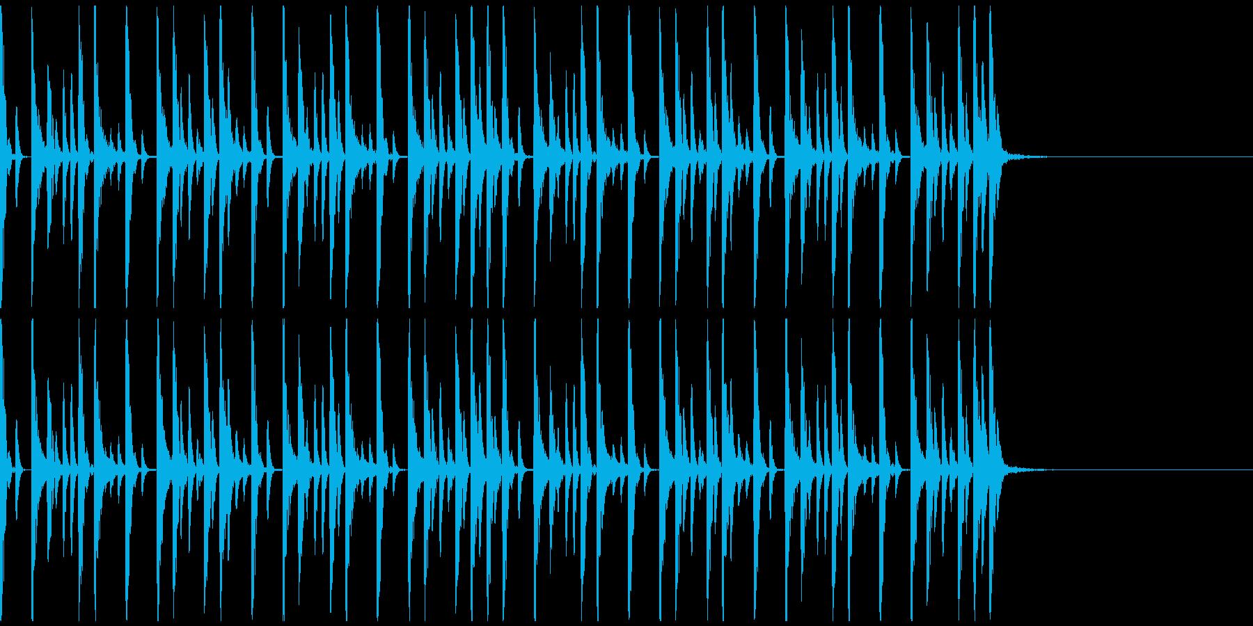 ドラムンベースのリズムパターン01の再生済みの波形