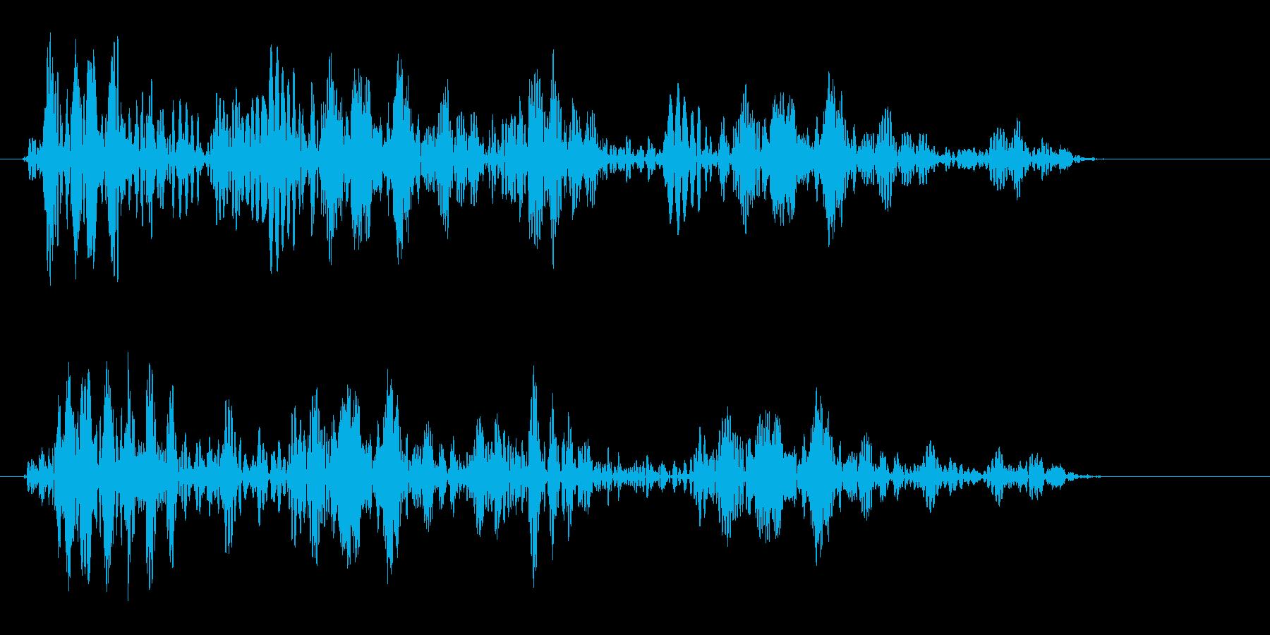 シュワンシュワン(ロープの音)の再生済みの波形
