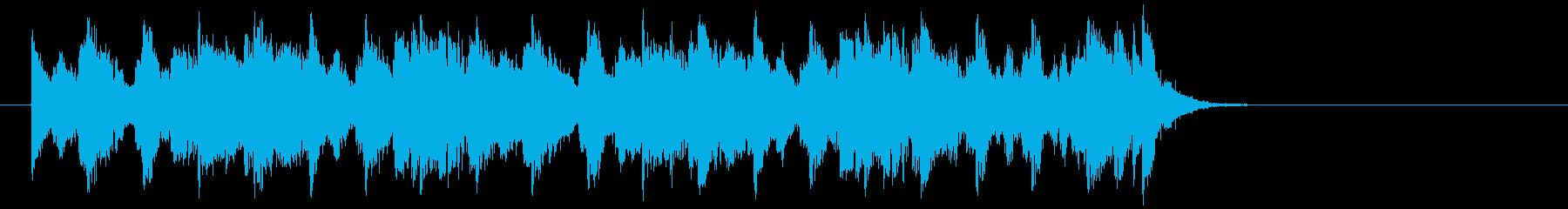 ほのぼのしたポップジャズ(サビ)の再生済みの波形