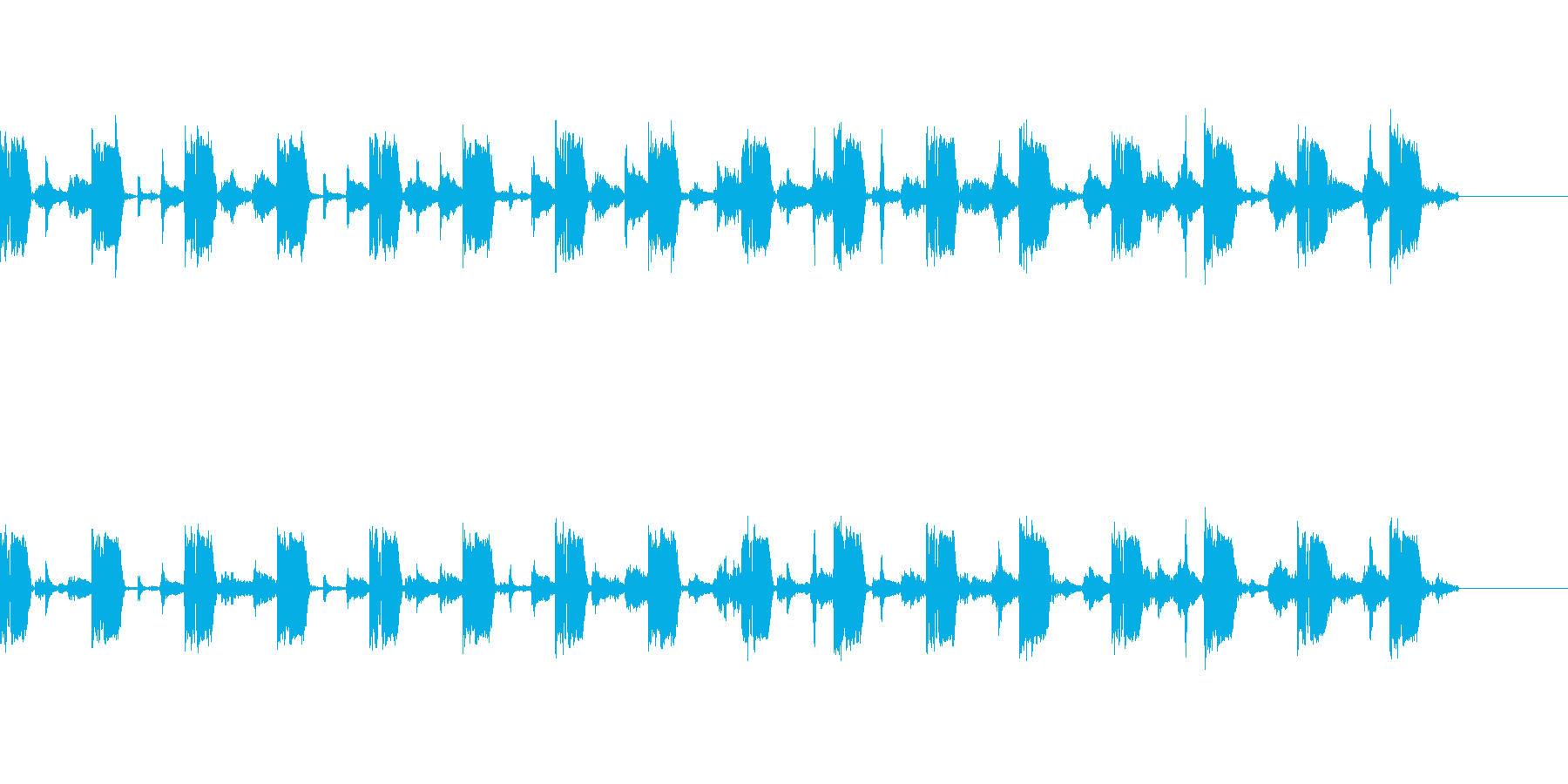 落ち着いたテクノ風BGMの再生済みの波形