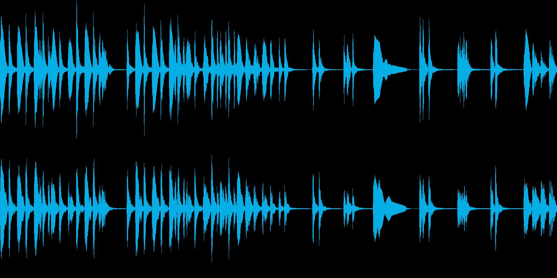音数少なめ、可愛いアコースティックBGMの再生済みの波形