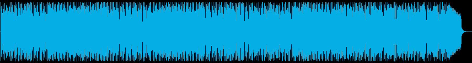 お洒落でメリハリあるメロディーの再生済みの波形