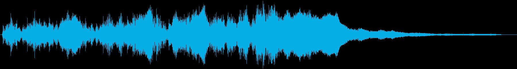 ドラムロールとファンファーレが一緒のSEの再生済みの波形