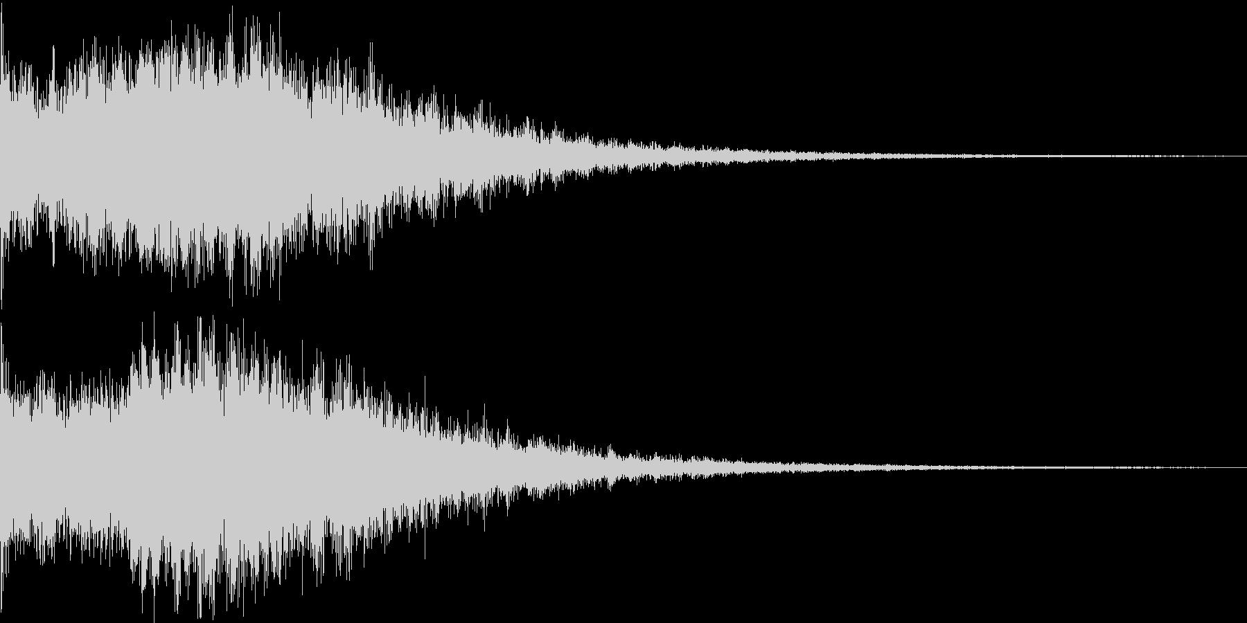 広がりのある空間 スペース系 音の未再生の波形