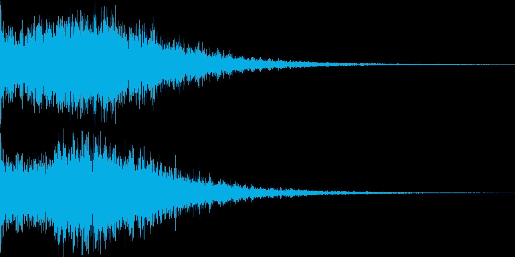 広がりのある空間 スペース系 音の再生済みの波形