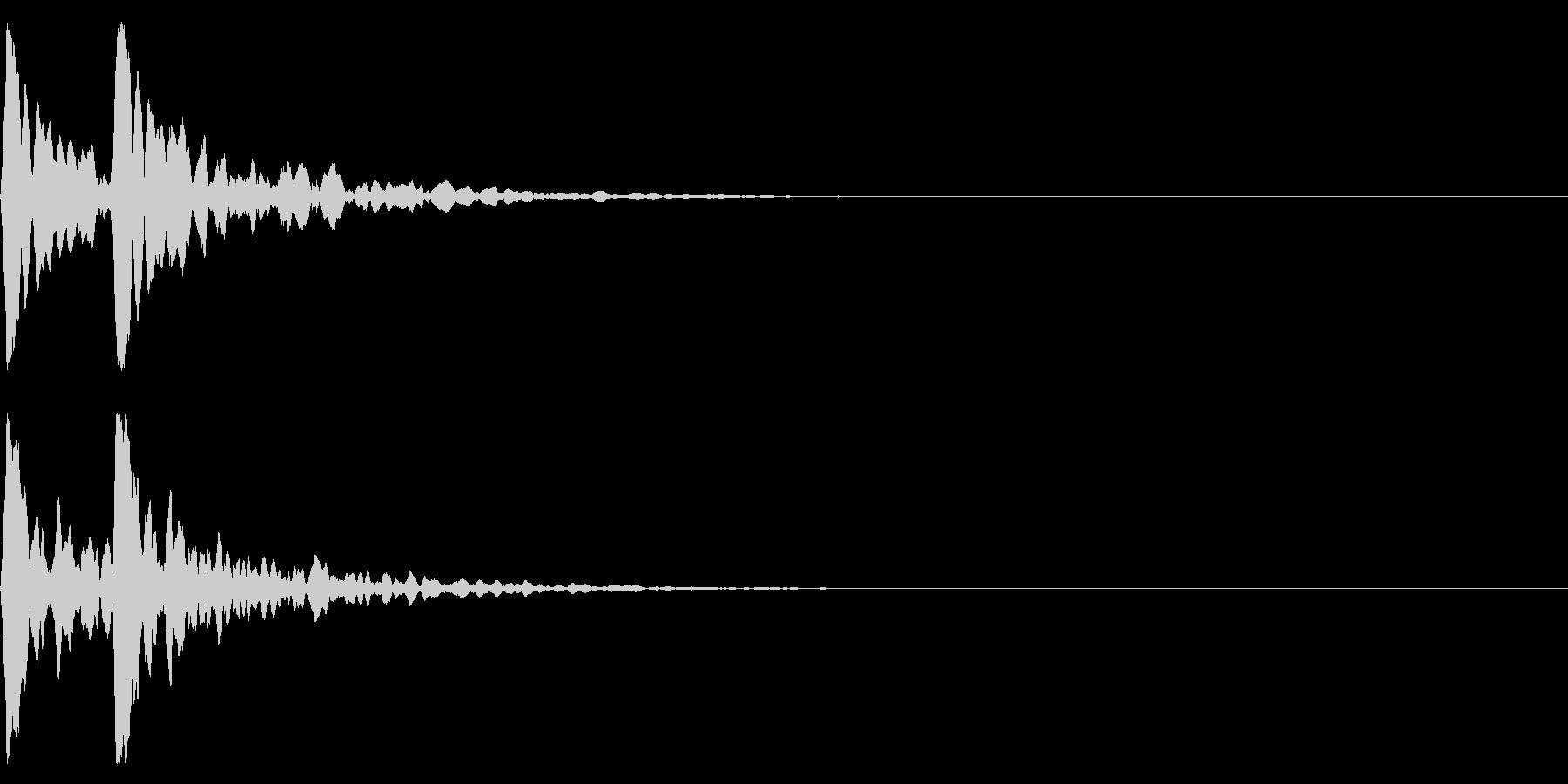 ポポン!音程高め鼓の基本の音!エフェクトの未再生の波形