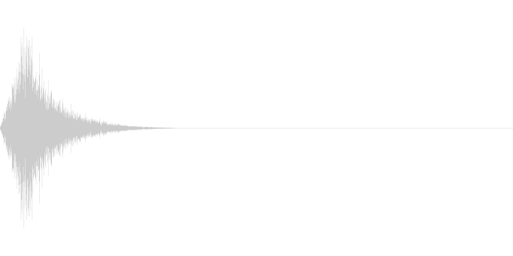 消す/スワイプ/スイング/振るの未再生の波形